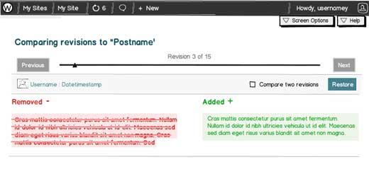 Compare Post Revisions UI