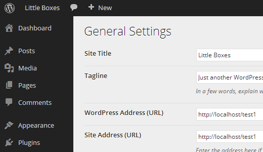 WordPress Admin User Interface in MP6