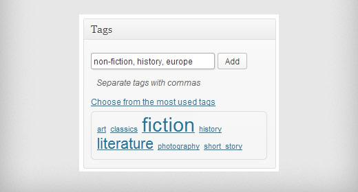 Adding tags to a WordPress post