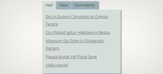 How to Add jQuery Tabber Widget in WordPress