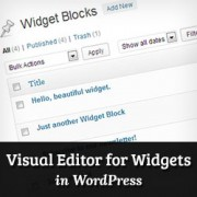 How to Use Visual Editor to Create Widgets in WordPress