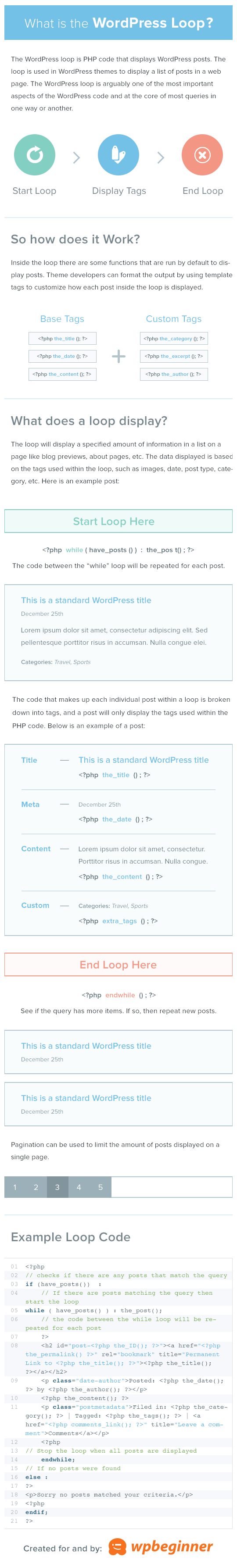 Infographic - Understanding the WordPress Loop