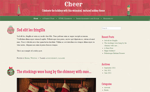 Cheer - A Christmas theme for your WordPress blog
