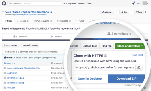 Downloading a WordPress plugin or theme from GitHub