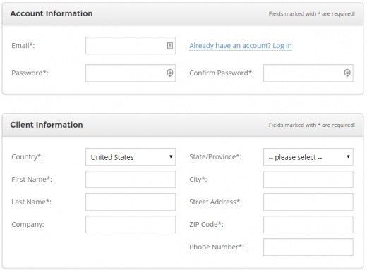 Enter your SiteGround account information
