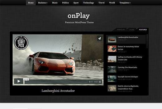 onPlay video theme by WPZoom