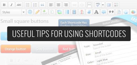 Using Shortcodes