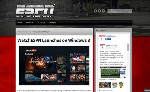 ESPN Product Blog