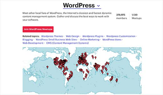 WordPress meetups around the globe