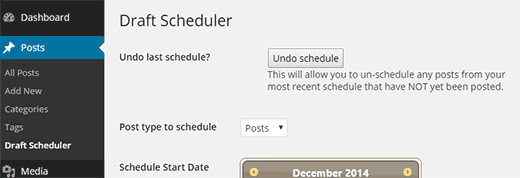 Undo scheduling at any time