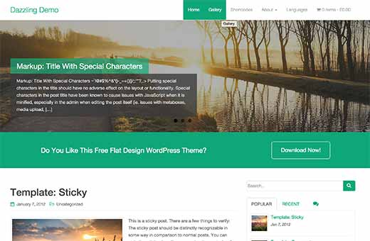 22 best free wordpress business themes dazzling is a simple business theme for wordpress it comes with a featured slider call to action buttons flexible widgets and unlimited color choices accmission