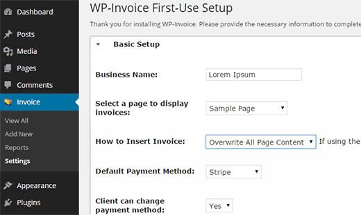WP Invoice
