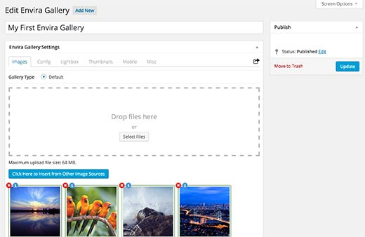 how to add photos to a gallery in wordpress