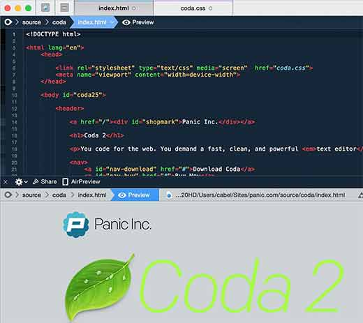 Full-featured HTML and PHP editor