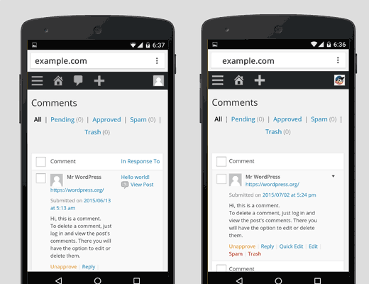 Comment lists in WordPress 4.2 and 4.3