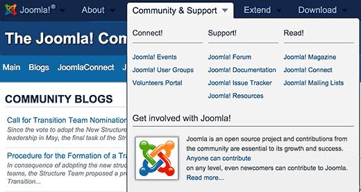 Joomla support