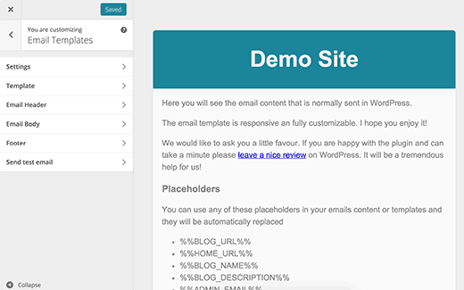 How To Add Beautiful Email Templates In WordPress - Set up email template