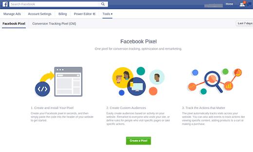 Creating Facebook Pixel