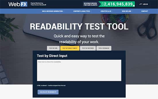 Readable readability test tool
