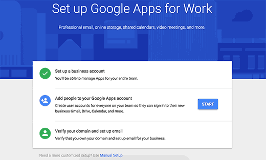 Google Apps for Work setup steps