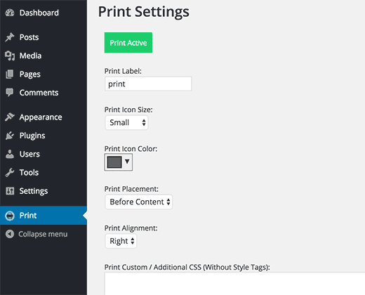 Method 1 Add Print Button In WordPress With Post And Page Plugin