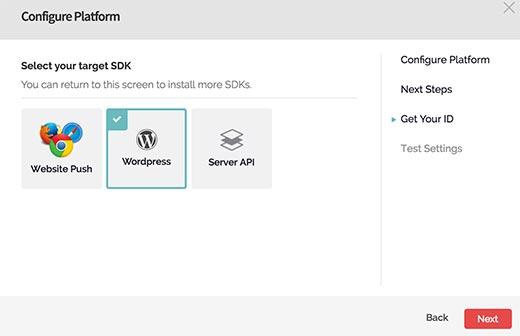 WordPress'i seçin