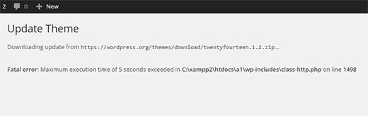 Maximale uitvoeringstijd fout in WordPress