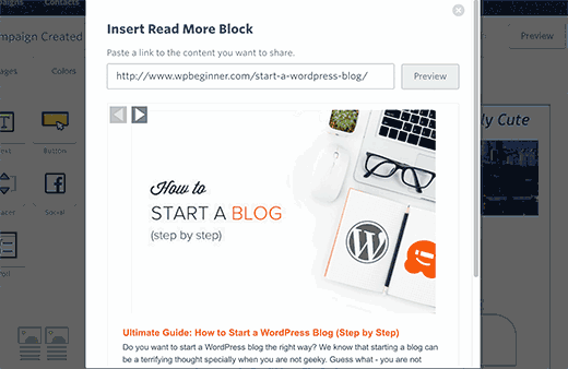 Fetch blog content into your email
