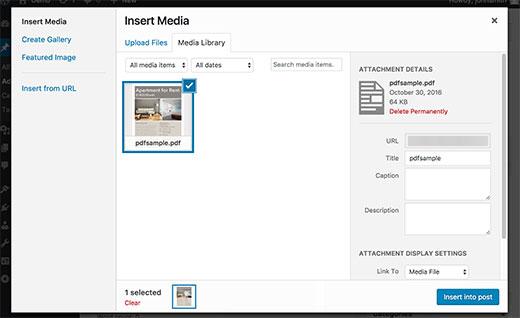 PDF thumbnail previews in WordPress 4.7