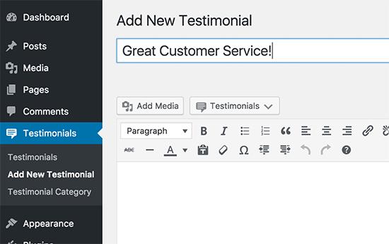 Adding customer reviews or testimonials
