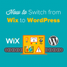 Switching from Wix to WordPress