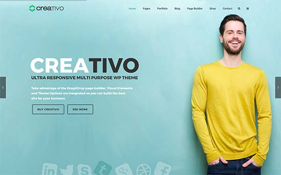 30 best wordpress business themes of 2017 if you are looking for a creative wordpress theme for your business then check out creativo it comes with 3 design layouts 7 skins and multiple header cheaphphosting Image collections