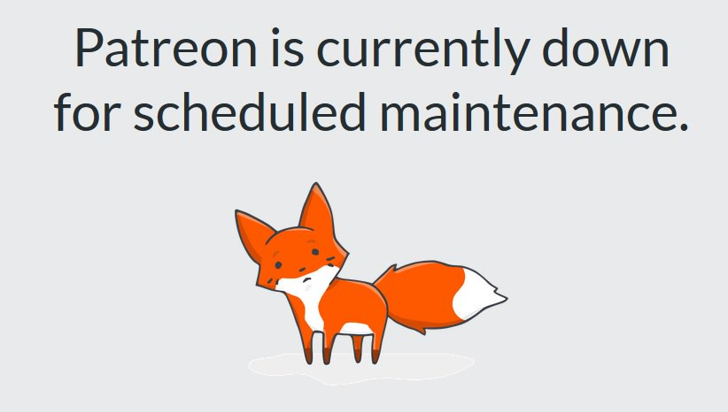 Patreon maintenance page