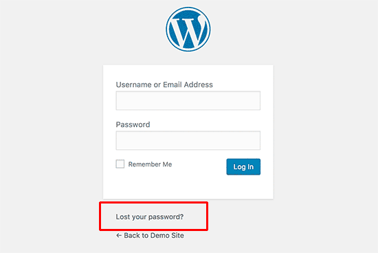 Recovering lost password in WordPress