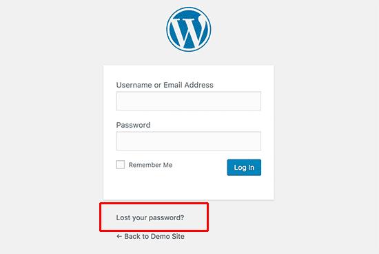 رمز عبور وردپرس