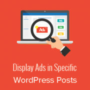 How to Display Ad Blocks in Specific Posts in WordPress