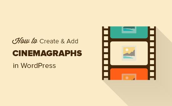 Crear cinemagraphs para tu sitio de WordPress