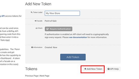 Generating new token