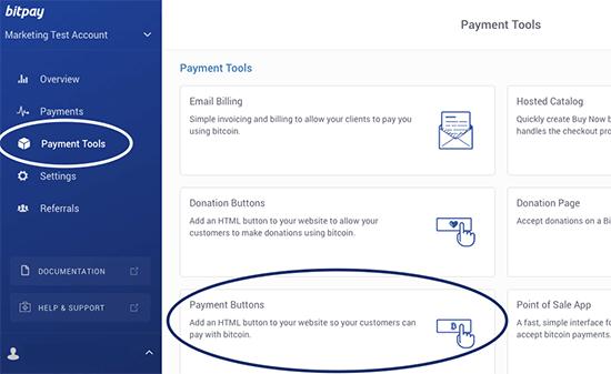 Bitcoin-betaalknoppen maken met BitPay