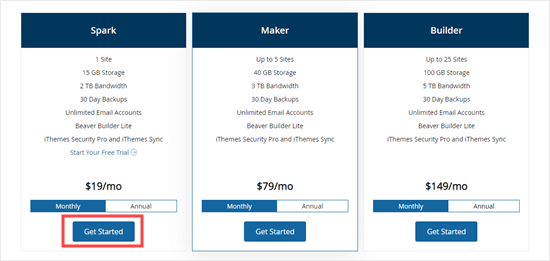 Some of the Liquid Web pricing plans - our Liquid Web coupon works on them all