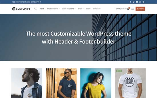 Customify Best WordPress Multi-purpose Theme