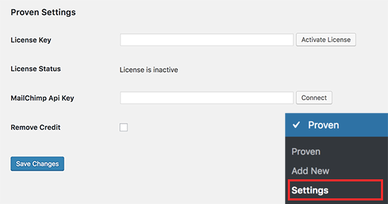 Enter your plugin license key