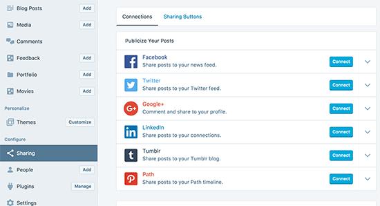 Sociale delen mogelijk maken in WordPress.com