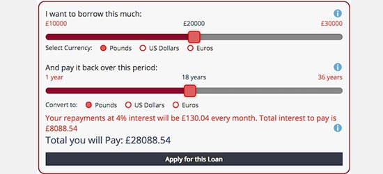 Repayment Calculator And Loan Lication Form