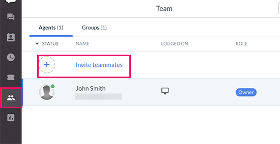 Invite teammates