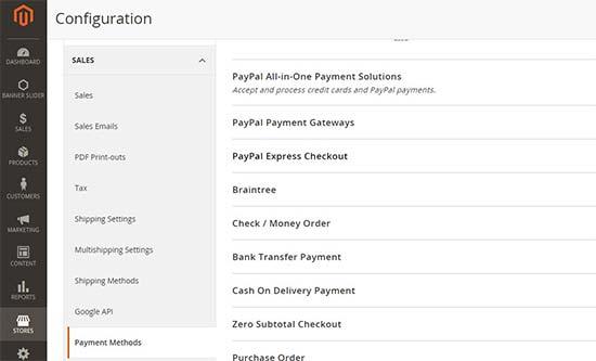 Metode pembayaran di Magento