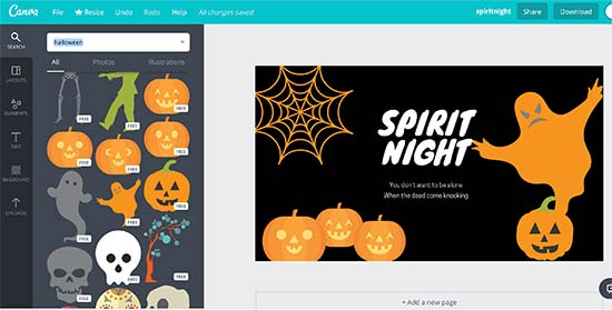 Canva for halloween graphics