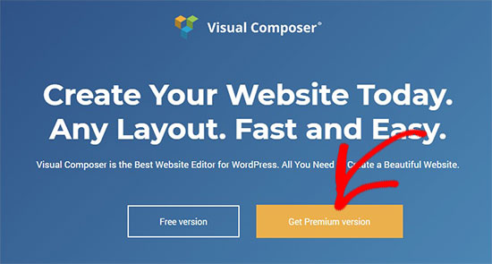 Visual Composer website