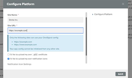 Configuración de Safari para notificaciones push