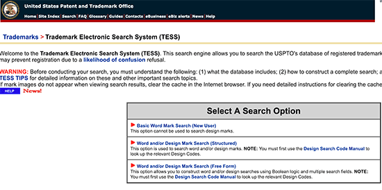 Research trademarks to avoid conflicting domain names